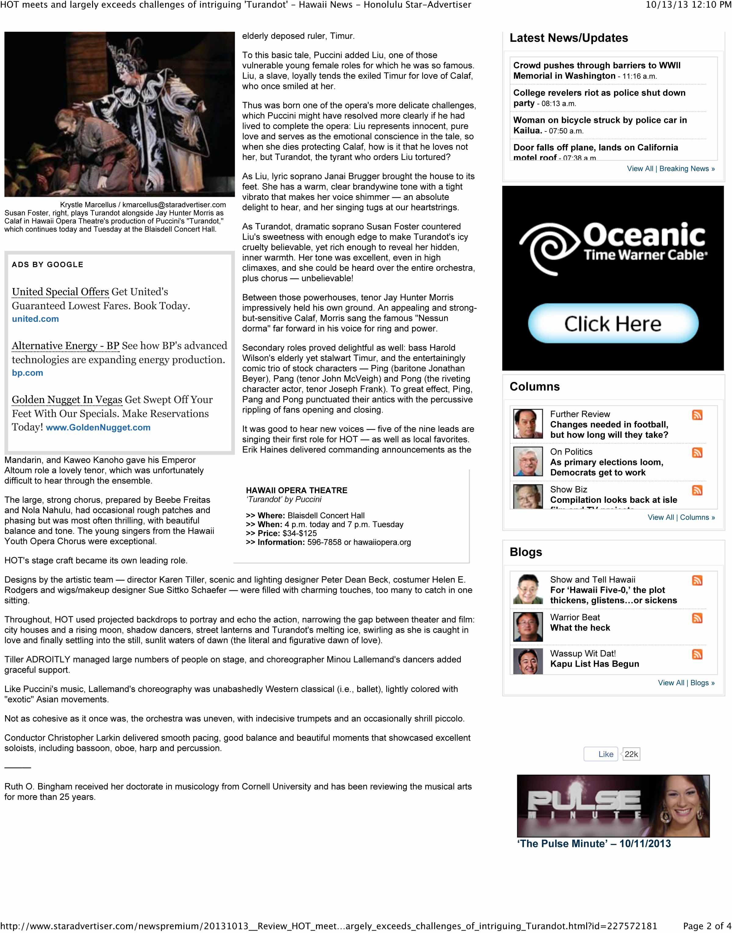 Star Advertiser Subscription | Reanimators